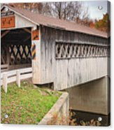 Root Rd Covered Bridge  Acrylic Print