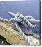 Rope And Bollard Acrylic Print