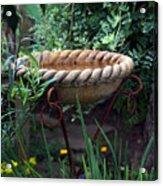 Rope Edged Bird Bath Acrylic Print