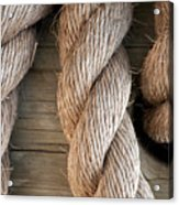 Rope In A Hole Acrylic Print by Dan Holm