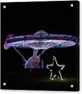 Rope Light Art Star Trek Enterprise Acrylic Print