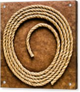 Rope On Leather Acrylic Print