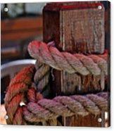 Rope On Wood Acrylic Print