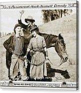 Roping Her Romeo 1919 Acrylic Print
