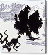 Rorschach 1 Wrestlers Acrylic Print