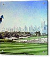 Rory At Ddc Emirates Gc Dubai 8th 2014  Acrylic Print