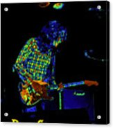 Saturated Blues Rock With Text Acrylic Print
