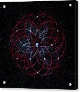 Rosace - Rose Nebula Acrylic Print