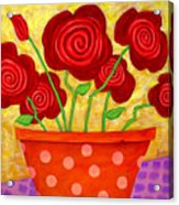 Rose-a-go-go Acrylic Print