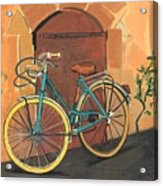 Rose And Bicycle Acrylic Print