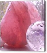 Rose And Clear Quartz 1 Acrylic Print