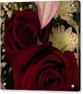Rose And Lily Acrylic Print