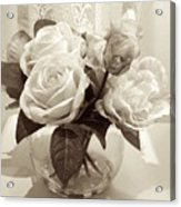 Rose Bouquet In Vinatage Acrylic Print