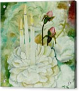 Rose Candles Acrylic Print