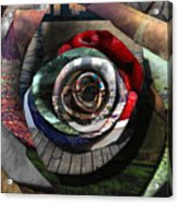 Rose - Collaged Petals Acrylic Print