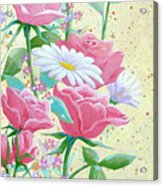 Rose Diptych 1 Acrylic Print