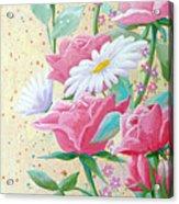 Rose Diptych 2  Acrylic Print