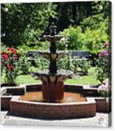 Rose Garden Fountain Acrylic Print