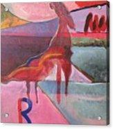 Rose Horse Acrylic Print