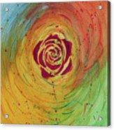 Rose In Vorteks Acrylic Print