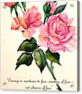 Rose Poem Acrylic Print