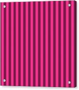 Rose Red Striped Pattern Design Acrylic Print