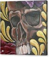 Rose Skull  Acrylic Print