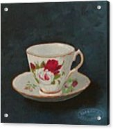 Rose Teacup Acrylic Print