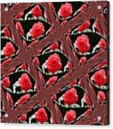 Rose Tiles Acrylic Print
