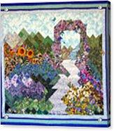 Rose Trellis Garden Acrylic Print by Sarah Hornsby