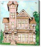 Rose Victorian Inn - Arroyo Grande Ca 1886 Acrylic Print