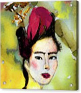 Rose Wearing Her Petals Acrylic Print
