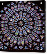 Rose Window At Notre Dame Cathedral Paris Acrylic Print