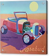 Rosebud Model T Roadster Acrylic Print by Evie Cook