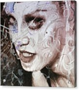 Rosegold Remixed Up Close Acrylic Print
