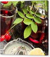 Rosehip Tea With Lemon In Glass Acrylic Print