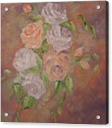 Roses All Aglow Acrylic Print