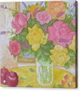 Roses And Apples Acrylic Print
