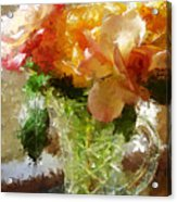 Roses And Crystal Acrylic Print