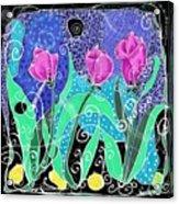 Roses And Lemons Acrylic Print