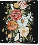 Roses And Poppies Bouquet Acrylic Print
