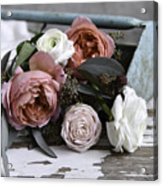Roses And Rust Acrylic Print