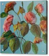 Roses And Wildflowers Acrylic Print