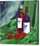 Roses And Wine Acrylic Print