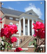 Roses At The Court House 2 Acrylic Print