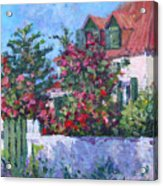 Rose's Cottage Acrylic Print