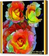 Roses For Anne Catus 1 No. 3 V A With Decorative Ornate Printed Frame. Acrylic Print