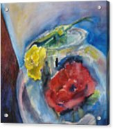 Roses In A Fish Bowl Acrylic Print