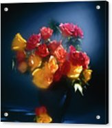 Roses In The Blue Acrylic Print