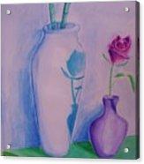 Roses  In Vase Acrylic Print